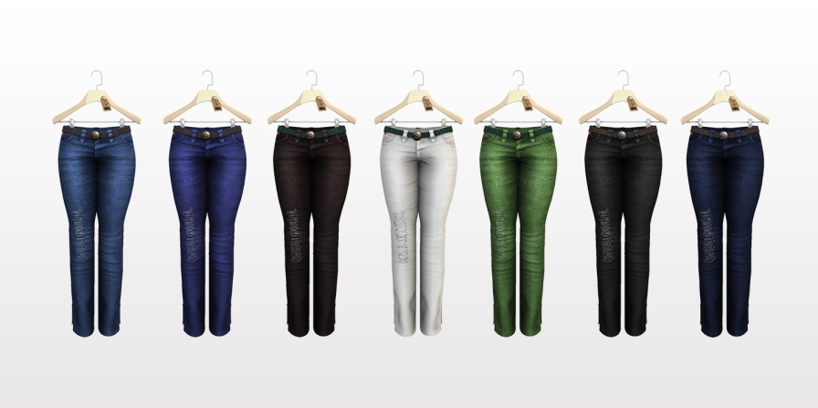 Mary Anne Jeans Color Set