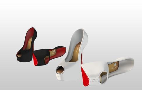 Mesh Heels for Slink High feet - Black & White