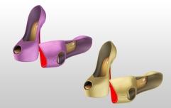 Mesh Heels for Slink High feet - Gold & Lavender