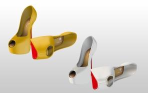 Mesh Heels for Slink High feet - Yellow & White