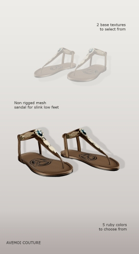 Includes Bali flat sandals
